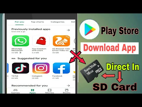 How to install apps on sd card (momory card) direct from the play store