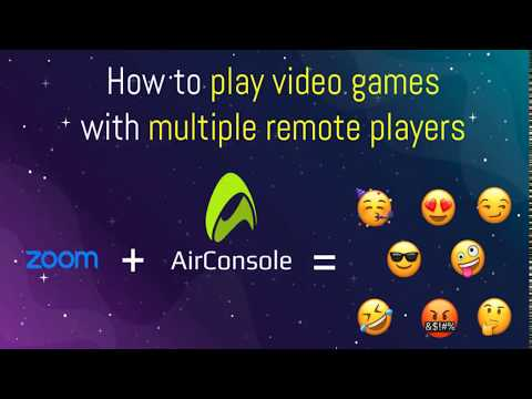 How to play video games online with friends using zoom & airconsole