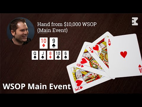 Poker strategy: hand from $10,000 wsop (main event)