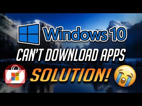 Fix can't download apps from microsoft store in windows 10 - [2021]