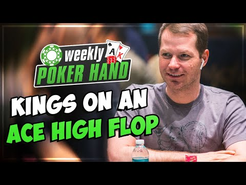 Playing kk on an ace-high flop! [live cash game]