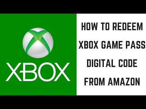 How to redeem xbox game pass digital code from amazon