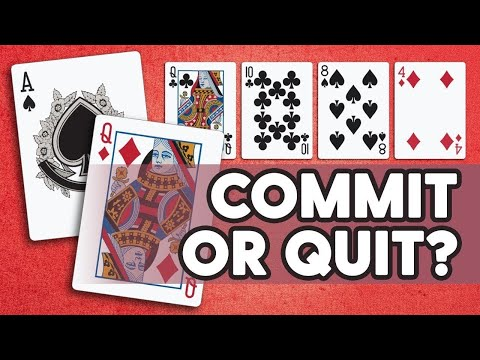 Commit or quit with ace queen? [poker quiz]