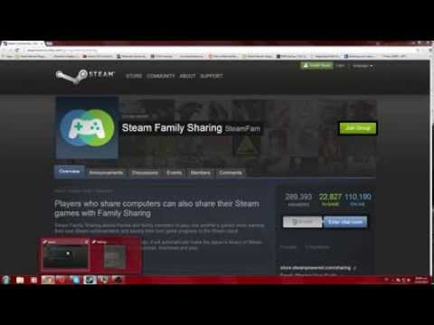 Steam family share tutorial how to share games part 1