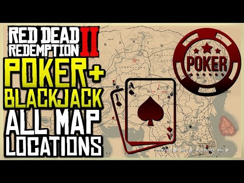 All poker and blackjack map location - red dead redemption 2