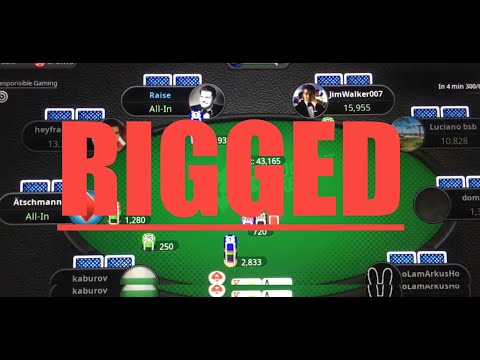 Pokerstars has to be rigged. impossible. weird bad beat. this isn't poker. this is dumb algorithms.