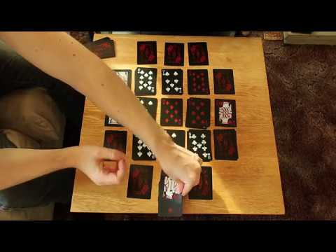How to play gridcannon: a single player game with regular playing cards