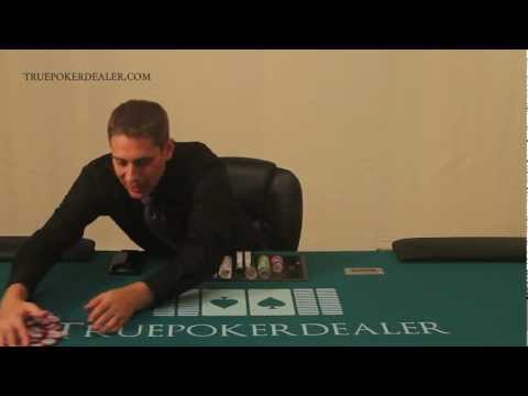 How to deal poker - how to handle chips - lesson 6 of 38