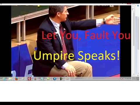 [table tennis umpire] power of umpire in real tournament (umpire exam must case study)