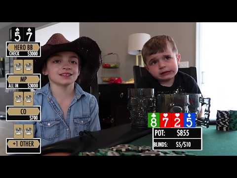 Two pair versus opponent playing blind in huge pot!!! top 5 favorite poker hands part 2!