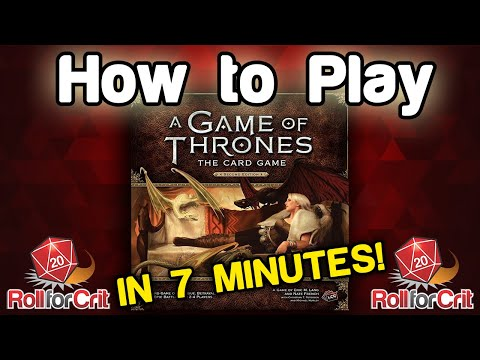 How to play a game of thrones: the card game | roll for crit