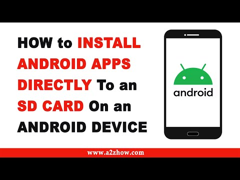 How to install apps directly to the sd card on an android device