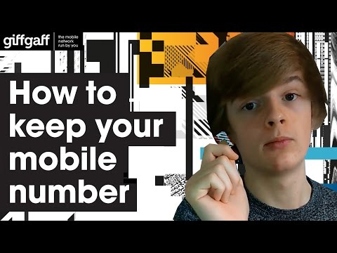 How to keep your current mobile number   giffgaff
