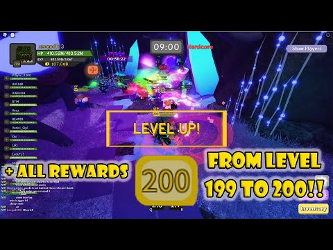 Level 200 + all rewards from 199 to 200! dungeon quest | roblox