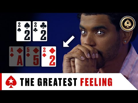 Flopping a set in high stakes poker! ♠️ best of the big game ♠️ pokerstars