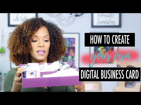 How to create your own digital business cards
