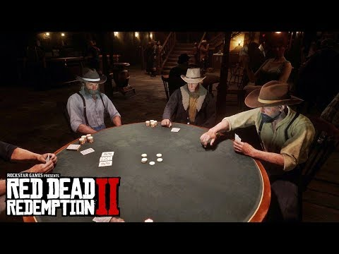 Play poker in red dead redemption 2 minigames (how to play?)