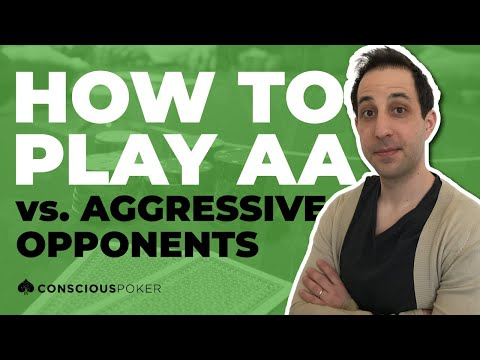 How to play pocket aces vs aggressive opponents | cash game poker strategy | hand of the day #246