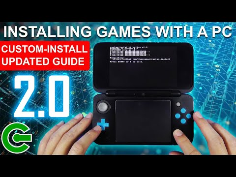 Installing 3ds cia games direcly to the sd card using a pc - custom install 2.0 ~ updated guide!