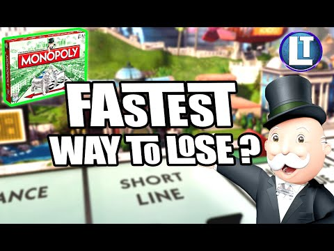 Monopoly / how fast can you lose this game? / what is the fastest way to lose?
