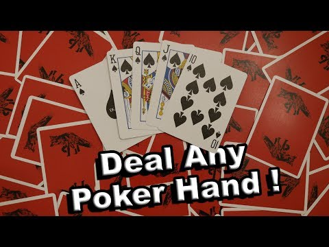 How to deal any poker hand! learn card cheating tutorial- easy