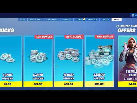 How to buy v-bucks with gift card fortnite