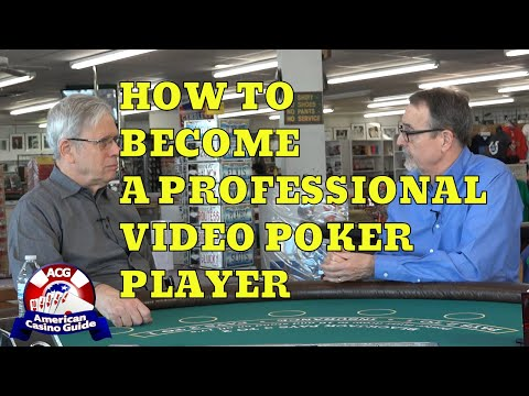 How to become a professional video poker player with video poker expert bob dancer