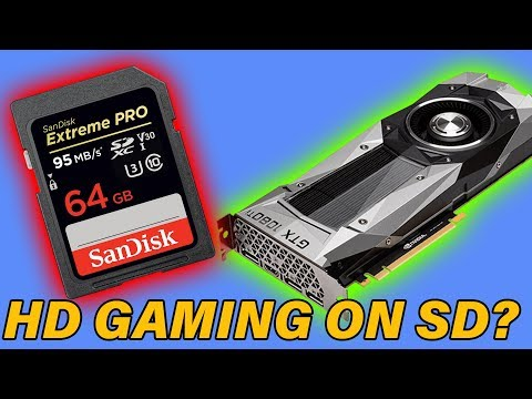 Can you game on an sd card?