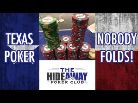 No one likes to fold in texas! 10 crazy poker hands from the hideaway poker club!