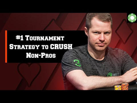 #1 tournament poker strategy to crush non-pros - a little coffee with jonathan little