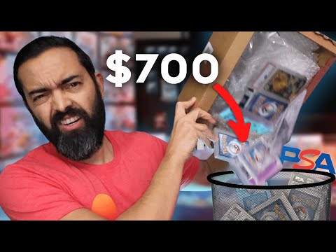 Trash? opening a $700 psa pokemon mystery box (how much value is actually inside)