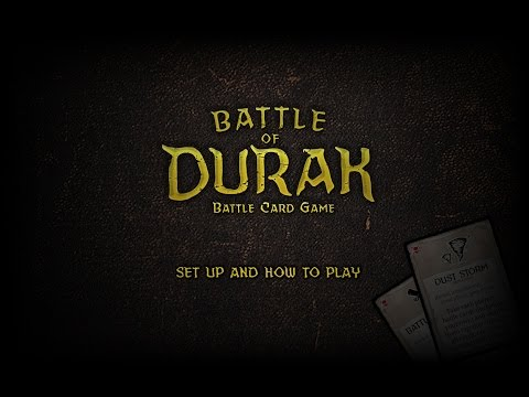 Set up and learn to play battle of durak: battle card game