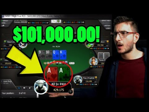 Deep and going for my biggest cash ever! $101,000 for 1st!!!