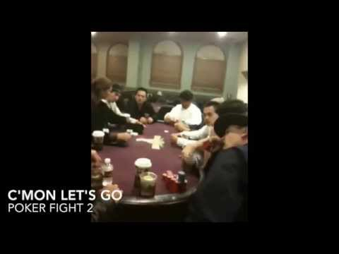 Poker fights - scold, threats and ko!