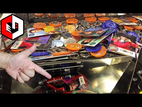 Winning free cards?! | finding cards at star trek coin pusher arcade game at dave and busters