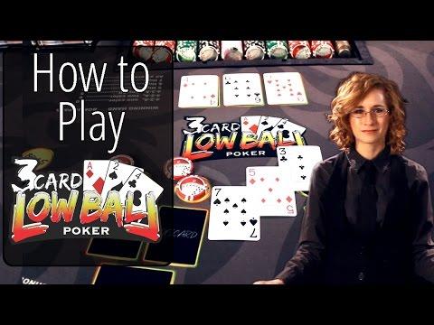 How to play three card lowball poker