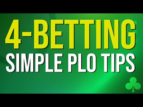 4-betting in pot limit omaha