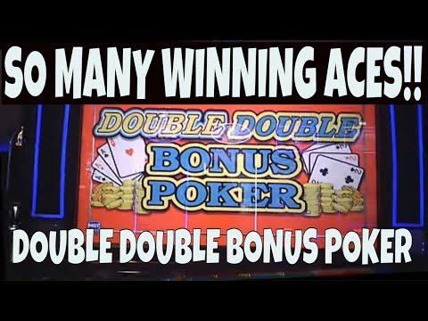 Double double bonus video poker with so many winning aces! 😀♠♣♥♦