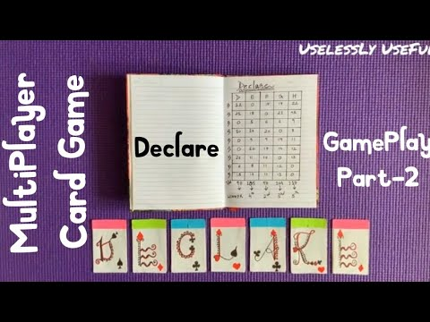 Declare card game - gameplay - easy and fun multiplayer card game (lockdown special)