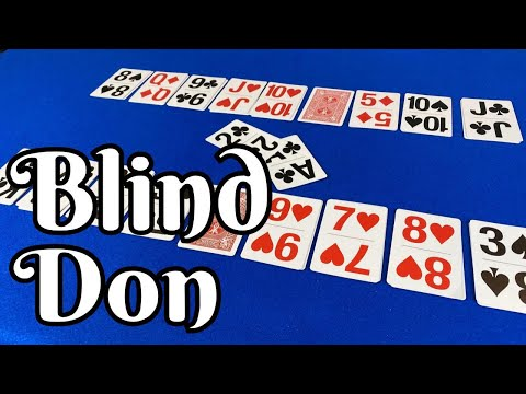 How to play blind don - 2 player card game