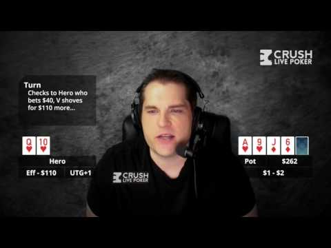Poker strategy: how should we play this huge draw