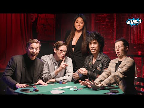 Can 4 guys beat a poker champion? • the try guys: 4 vs. 1