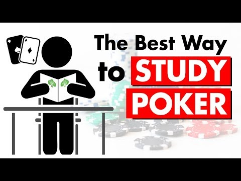 How to study poker like the pros: the best way to study poker
