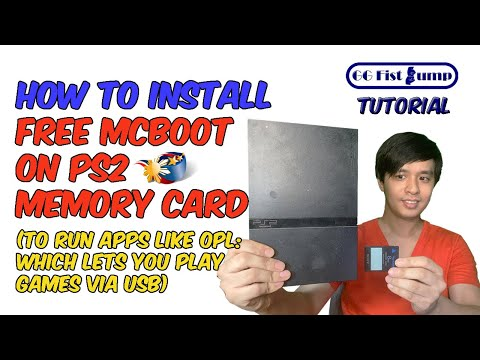 How to install free mcboot on ps2 memory card to play games via usb