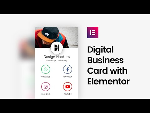 Create a digital business card with elementor - full tutorial