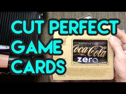 How to die cut diy trading cards, game cards & atcs