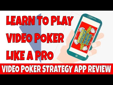 You can win playing video poker. video poker strategy app review.