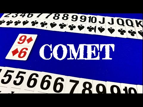 How to play comet - card games for 2 players