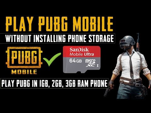 How to install pubg mobile on sd card | play pubg mobile without installing phone storage