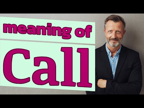 Call   meaning of call